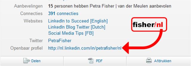LinkedIn Profiel URL Petra Fisher Nederlands