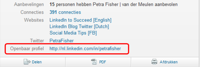 LinkedIn Profile URL Petra Fisher English