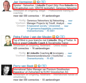 LinkedIn Profesionele Titel Petra Fisher LinkedIn Training Jan Vermeiren Perry van Beek